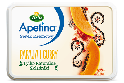 Serek kremowy papaja i curry – India 125 g